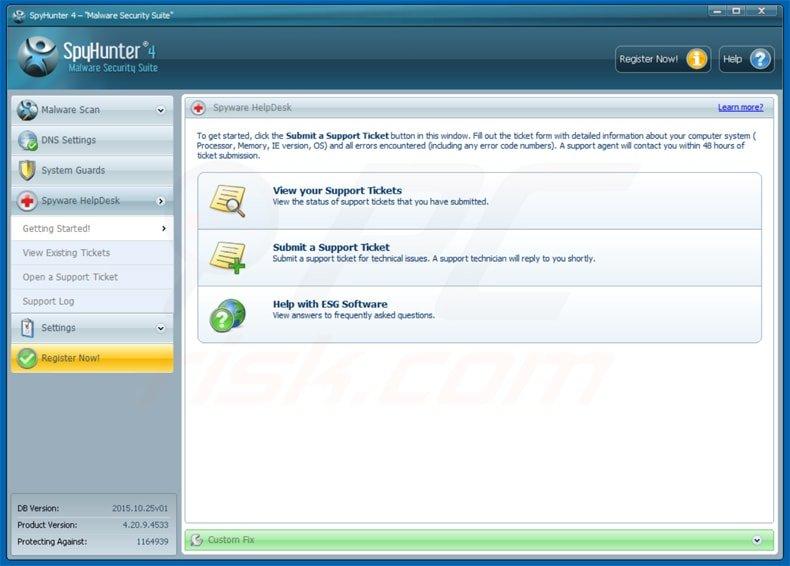 spyhunter malware security suite 4