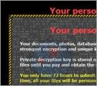 Virus 'Your personal files are encrypted'